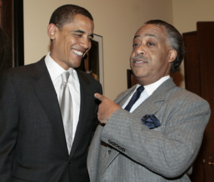 Barack Obama and Al Sharpton